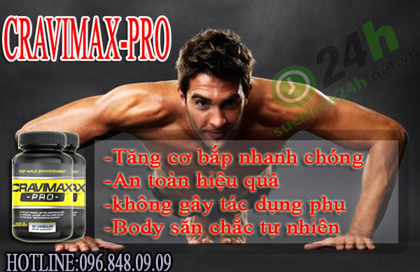 Viên uống tăng cơ tăng testosterone tốt nhất hiện nay Cravimax-pro