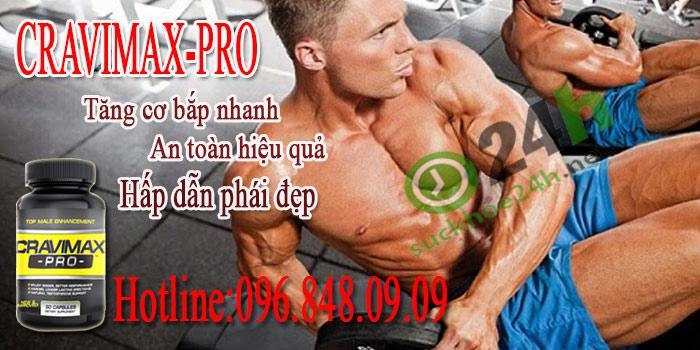 combo 2 lọ viên uống Cravimax-Pro giá chỉ 2.500.000
