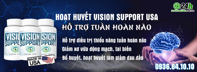 tác dụng hoạt huyết dưỡng não vision support